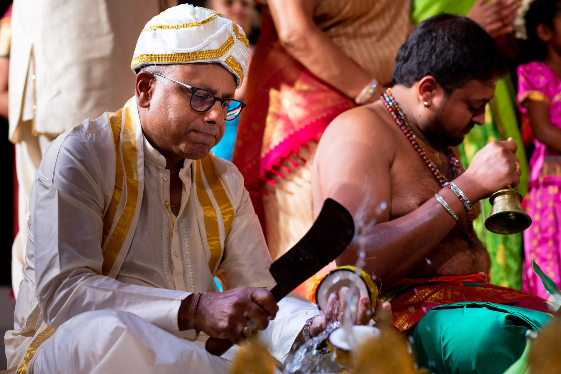 Colourful and fun wedding ceremony