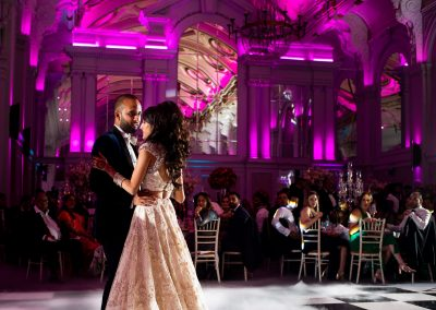 De Vere Grand Connaught Rooms wedding reception in London. First dance