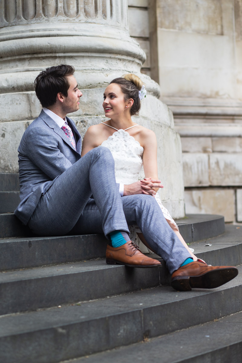 Creative and relaxed engagement shoot of couple