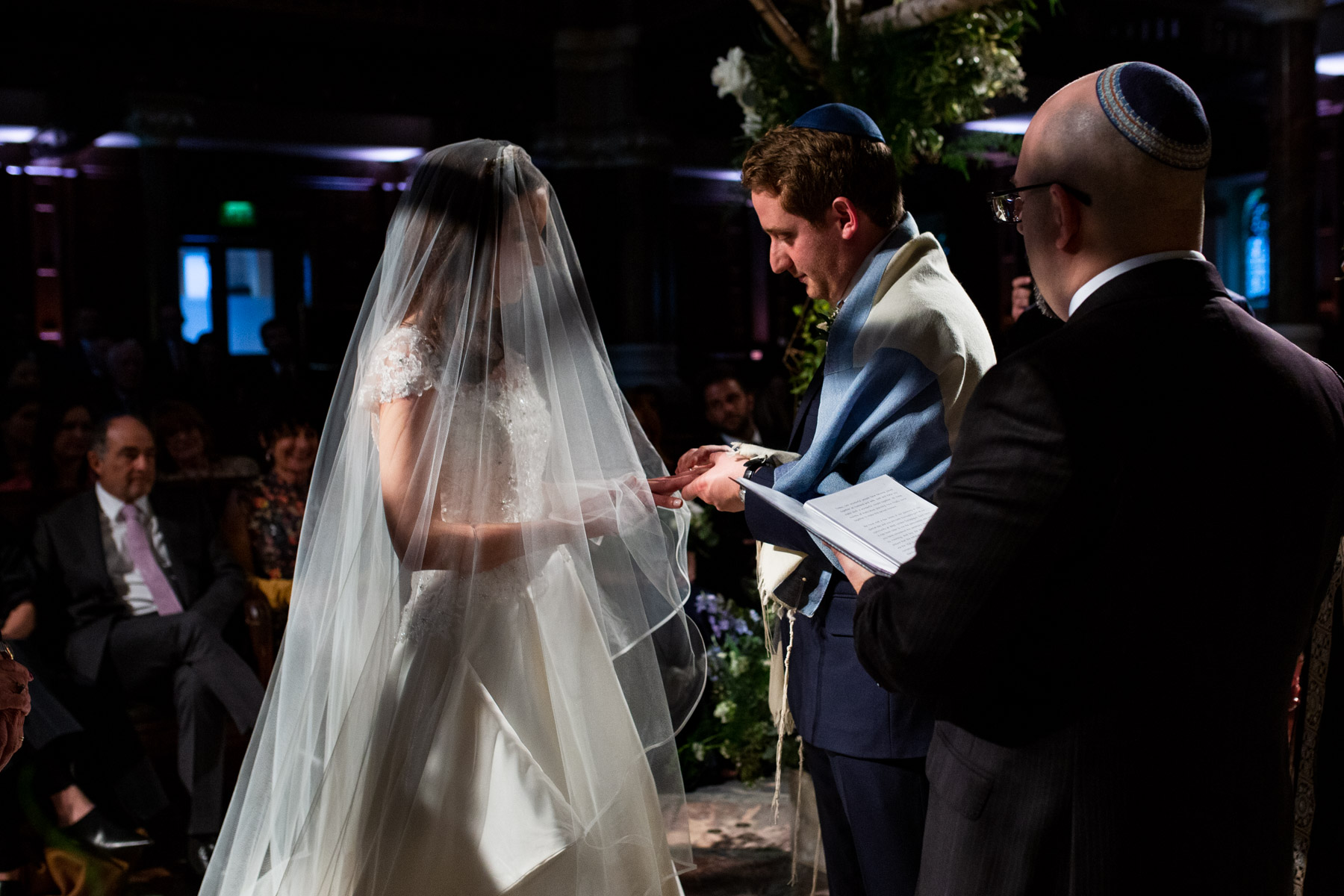 Intimate moment at wedding ceremony