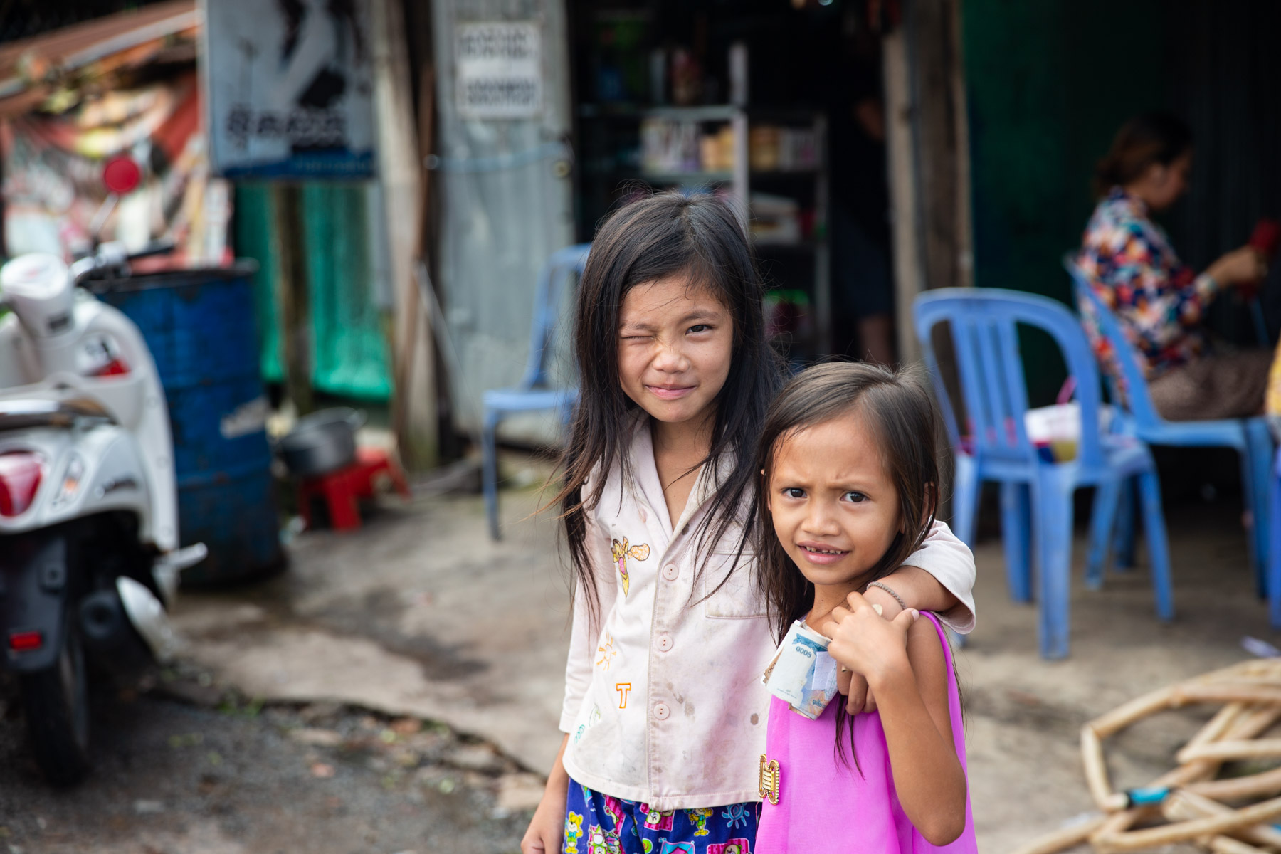 Two young girls portrait