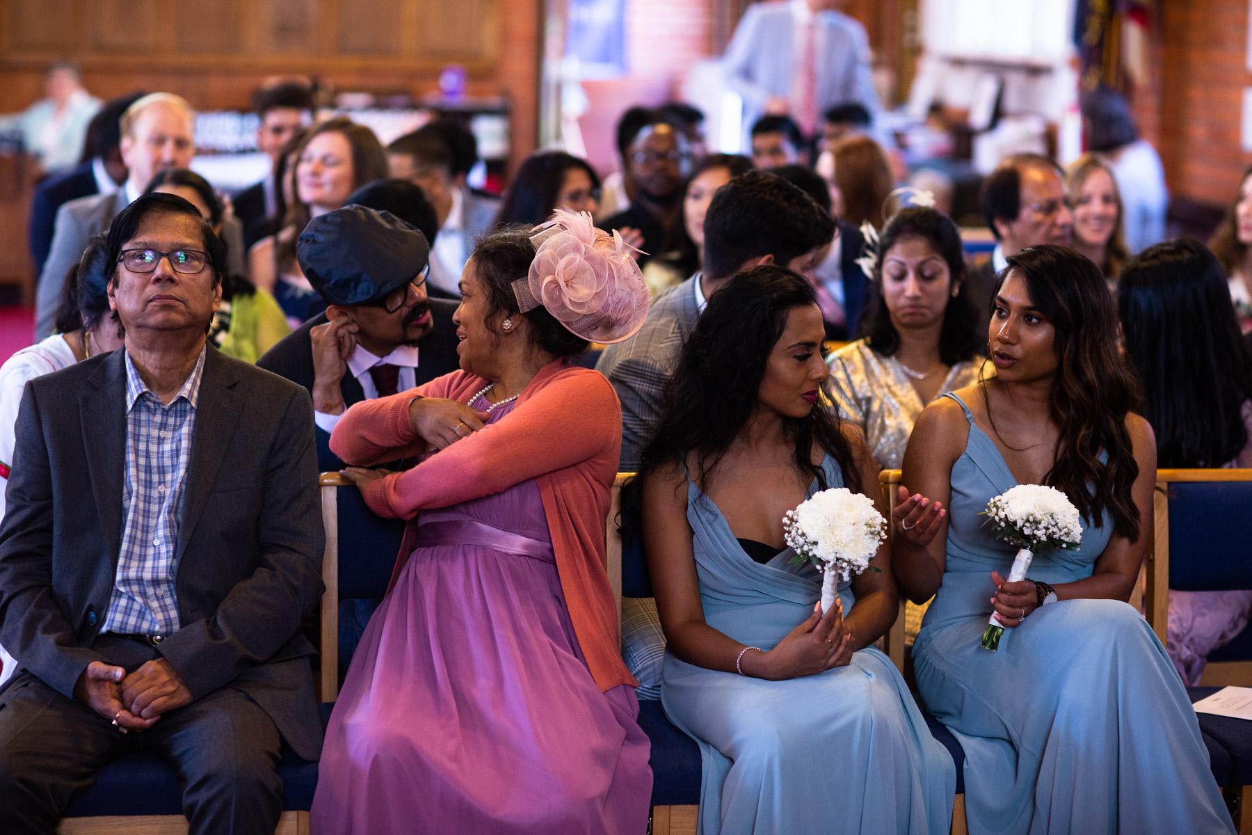 Beautiful and colourful wedding ceremony