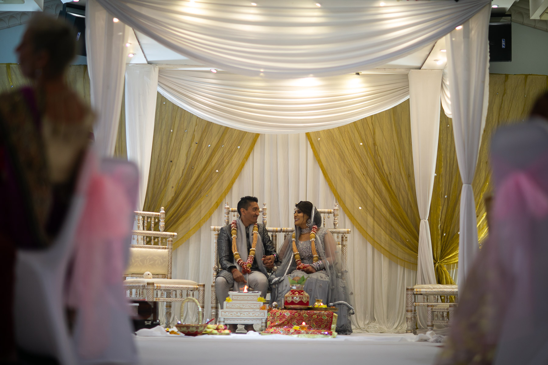 Relaxed Asian wedding ceremony