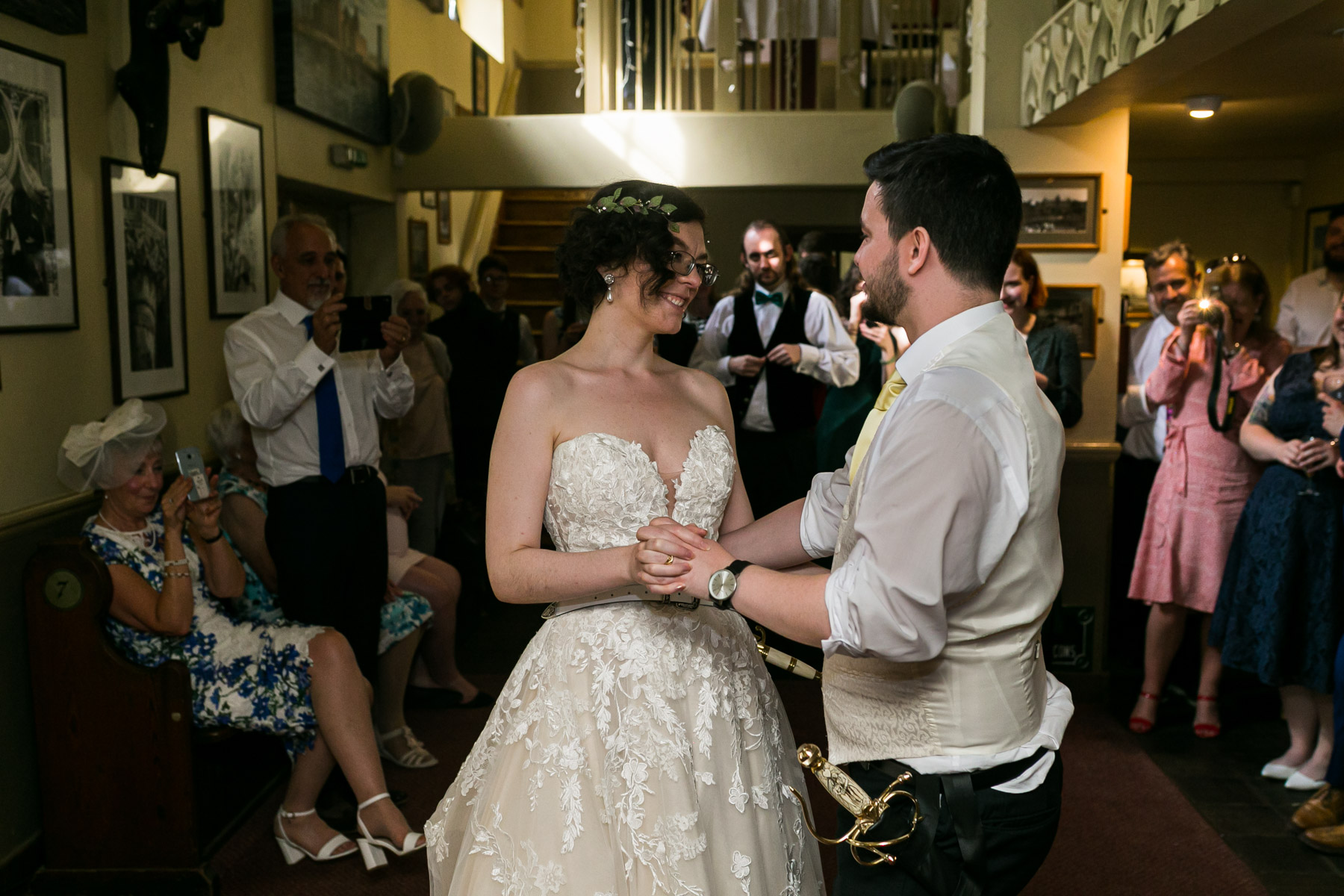 Intimate and relaxed first dance